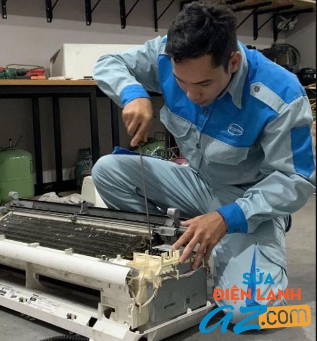 Thợ sửa điều hòa đúng kỹ thuật xử lý triệt để các lỗi