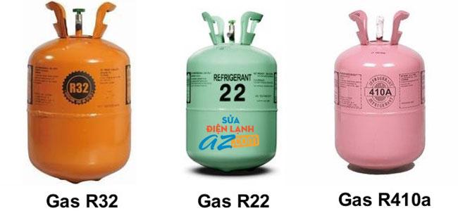 Các loại gas nạp điều hòa